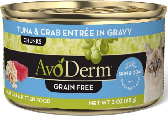 AvoDerm Natural Grain-Free Tuna & Crab Entree in Gravy