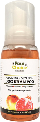 Paw Choice Naturals Waterless Foaming Mousse Shampoo