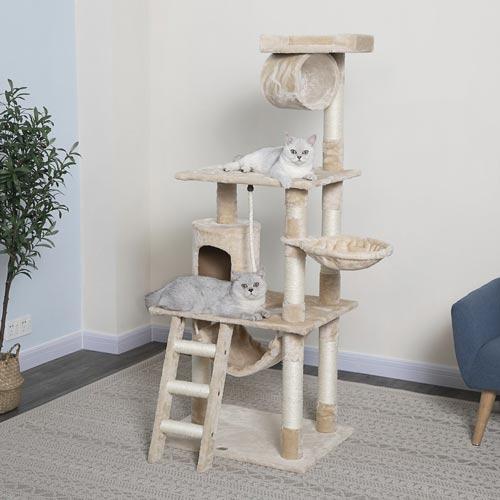 Go Pet Club 62 in Faux Fur Cat Tree & Condo