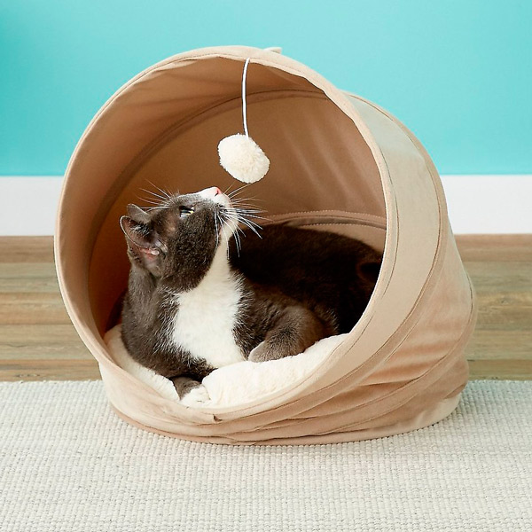 Foldable Canopy Cat Bed