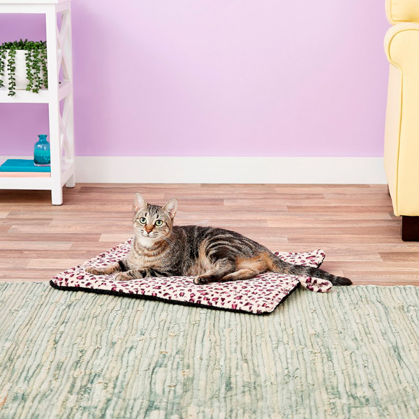 Thermal Leopard Print Cat Mat