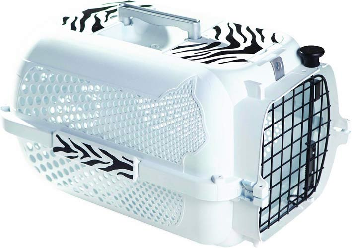 Catit Style White Tiger Voyager Cat Kennel
