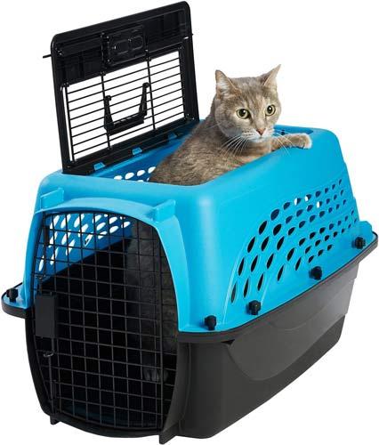 Frisco Two-Door Top Load Plastic Dog & Cat Kennel
