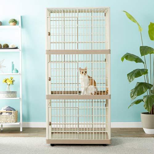 IRIS 3 Tier Plastic Cat Cage Playpen