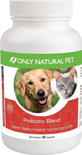 Only Natural Pet Probiotic Blend Healthy Intestinal Tract Capsules Dog & Cat Supplement