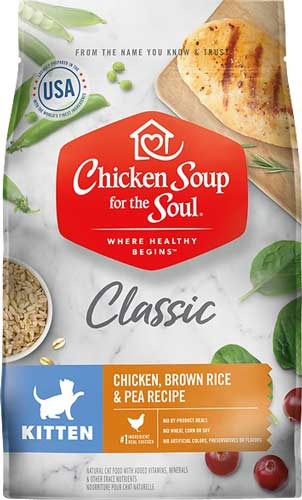 Chicken Soup for the Soul Kitten Chicken, Brown Rice & Pea cat