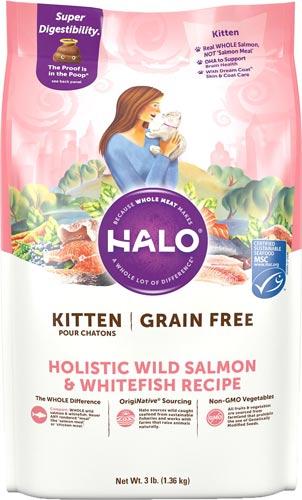 Halo Holistic Wild Salmon & Whitefish Recipe Grain-Free Kitten