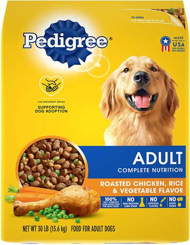 Pedigree Adult Complete Nutrition Roasted Chicken, Rice & Vegetable