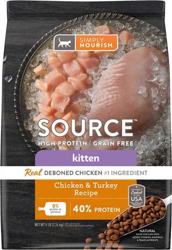 Simply Nourish Source Chicken & Turkey High Protein kitten