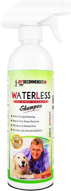 Vet Recommended Waterless No Rinse Cleanser Shampoo
