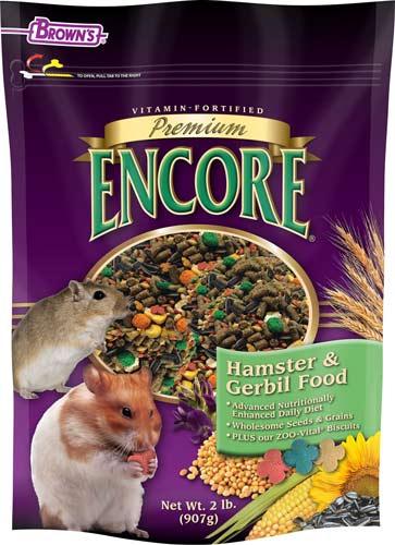 Brown's Encore Premium Gerbil & Hamster Food