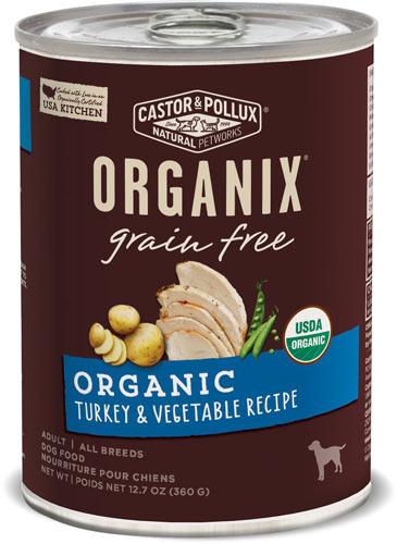 Castor & Pollux Organix Grain-Free Organic Turkey & Vegetable Recipe Adult Canned