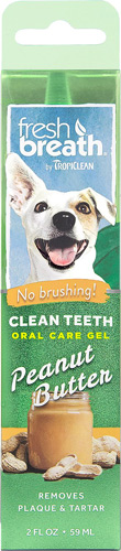 TropiClean Fresh Breath Clean Teeth Peanut Butter