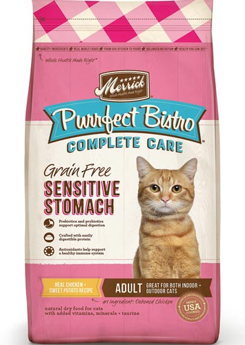 Merrick Purrfect Bistro Complete Care Grain-Free Sensitive Stomach